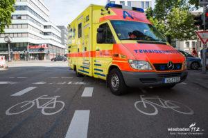 """""""Radfahrerin überrollt Rheinstraße 11.06.17"""" by Wiesbaden112.de is licensed under CC BY-NC-ND 2.0"""