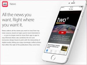 Werbeversprechen von Apple News / Quelle: Apple