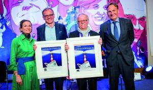 Der Leuchtturm-Preis als Ermutigung und Anerkennung für ORF-Moderator Armin Wolf und ein Ehrenleuchtturm für alles, was Hans Leyendecker in fünf Jahrzehnten im Journalismus geleistet hat. / Foto: Andreas Domma
