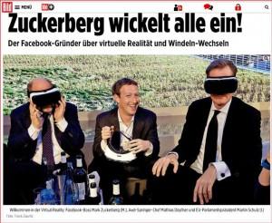Zuckerberg-Besuch in Deutschland / Screenshot bild.de
