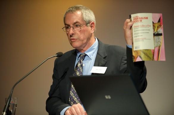 »Weniger Kritik – mehr Hilfe und Rat für die Kollegen«: Keynote-Speaker Mike Hoyt, Chefredakteur der »Columbia Journalism Review«