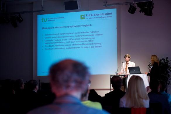 … und Tobias Eberwein stellen ihr europaweit angelegtes Forschungsprojekt vor.