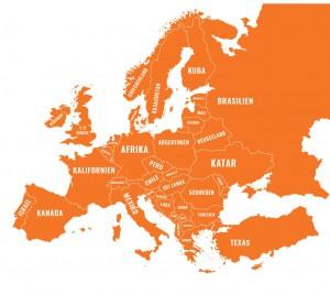 Typisch für das Katapult-Magazin aus Greifswald: gewitzte Grafiken wie diese, die europäische Staaten in Länder oder Regionen mit ähnlicher Wirtschaftsleistung umbenennt.  / Credit: Katapult